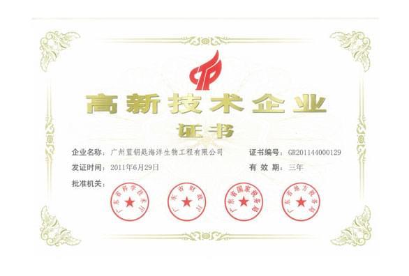 """广州蓝钥匙获""""高新技术企业""""荣誉称号"""