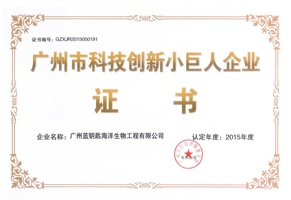 """广州蓝钥匙荣获""""科技创新小巨人企业""""称号"""